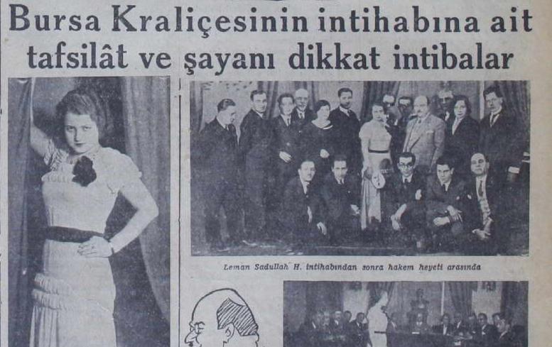 """Bursa'nın ilk güzeli """"İpek Kraliçesi"""" Leman (Sadullah) Saydam"""
