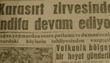 Türkiye'de de Yanardağ Patladı